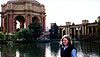 My sister, Lissa, at the Palace of Fine Arts.